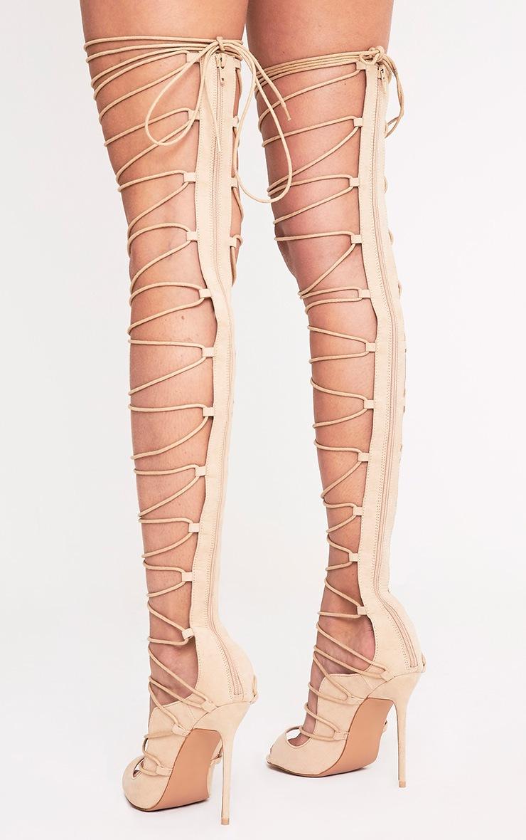 Colleen sandales montantes chair à talons à lacets 4