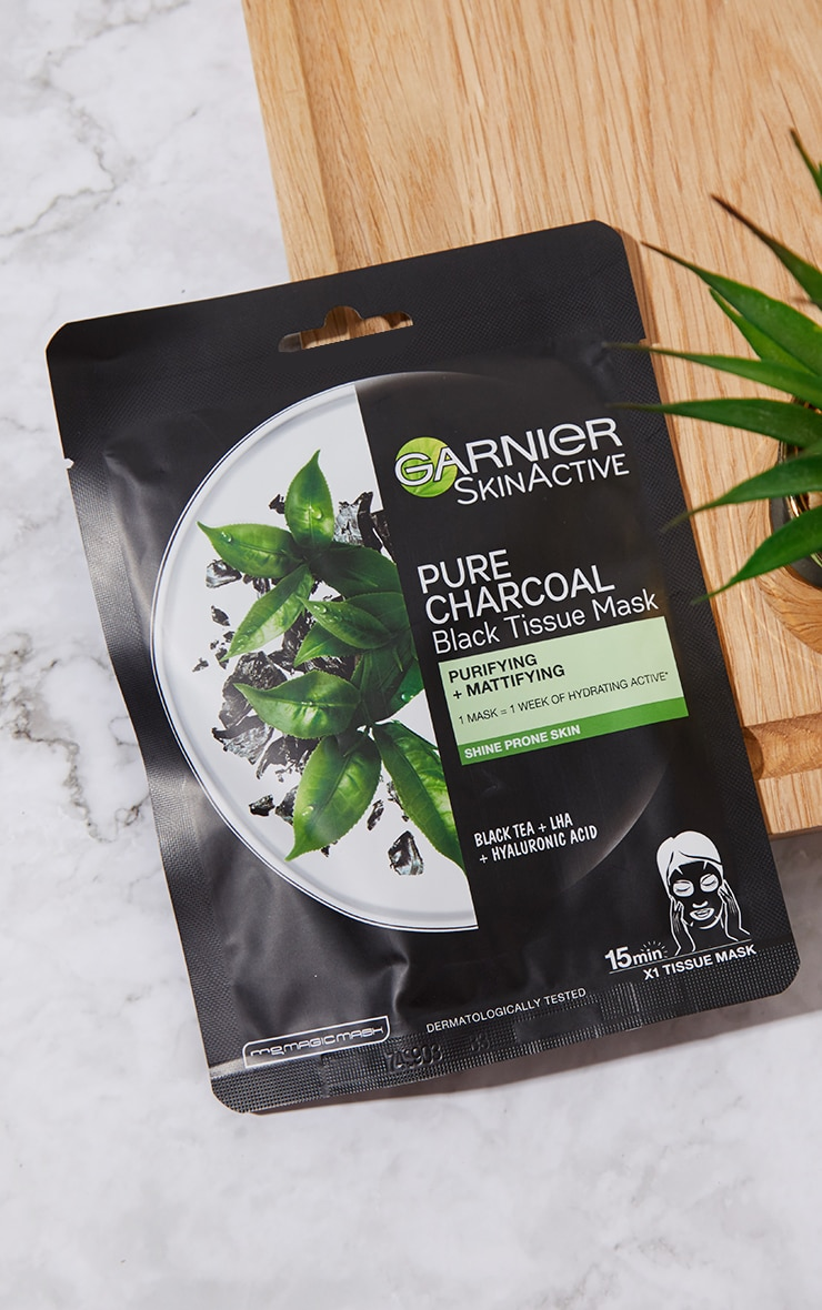 Garnier Charcoal and Black Tea Purifying and Hydrating Skin Sheet Mask 3