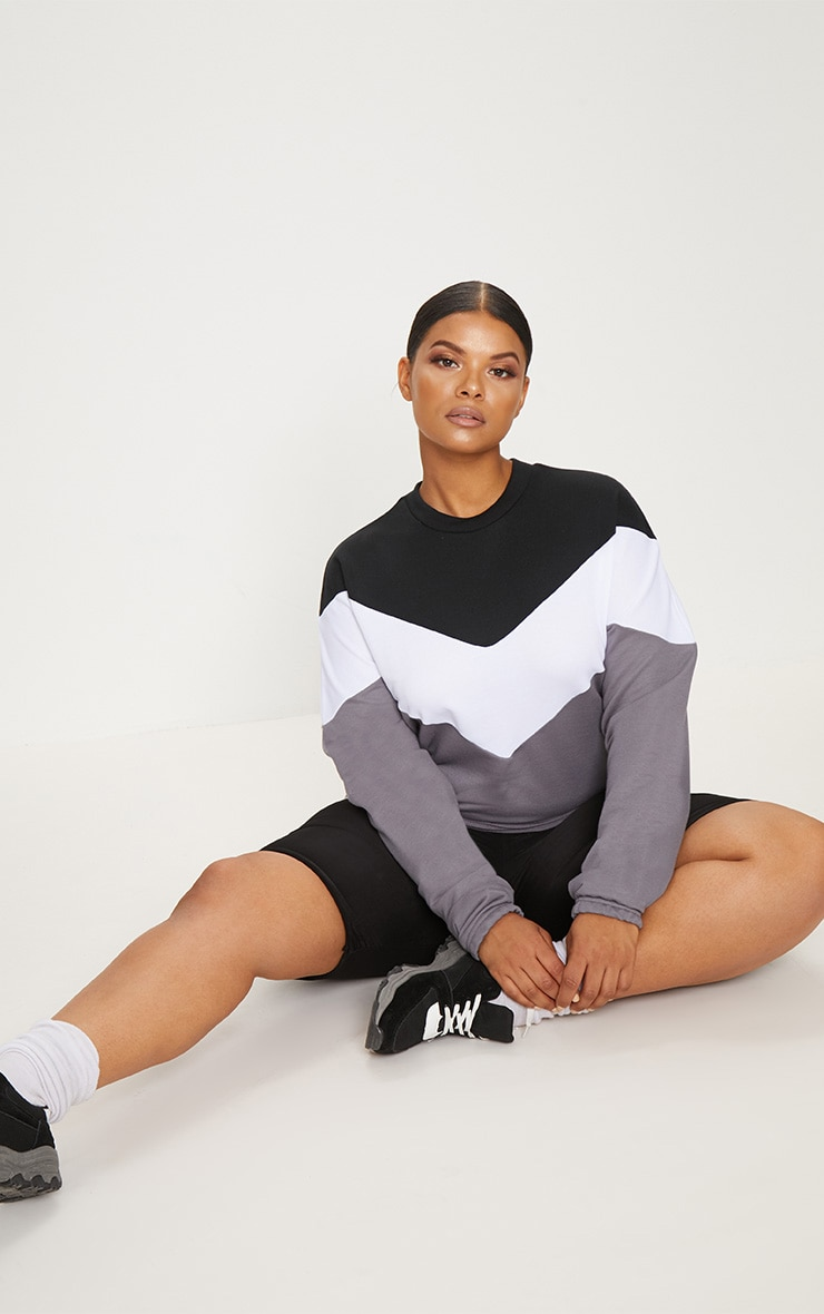 Plus Black Chevron Sweater 4
