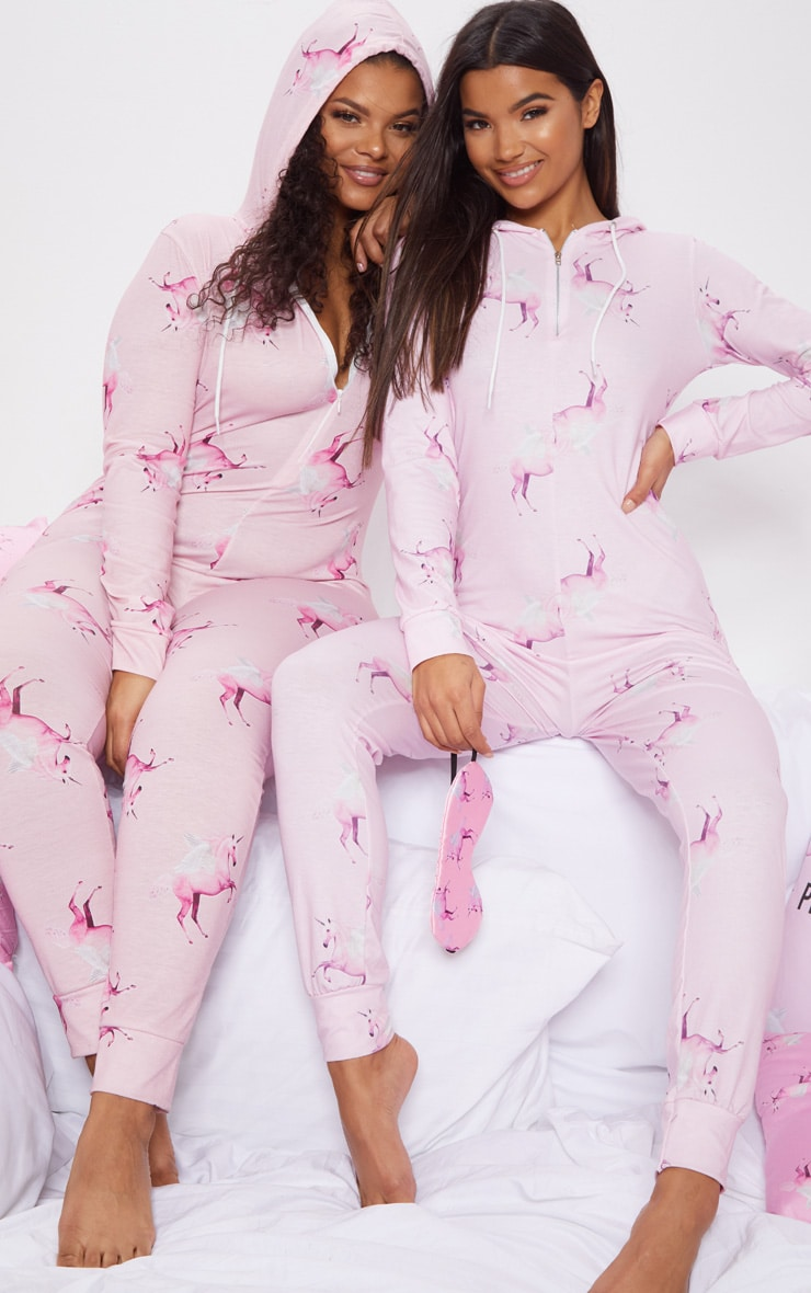 PRETTYLITTLETHING Pink Unicorn Print Onesie 7