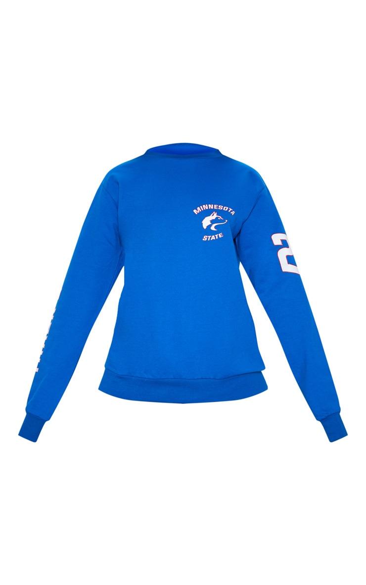 Cobalt Minnesota Slogan Oversized Sweater 3
