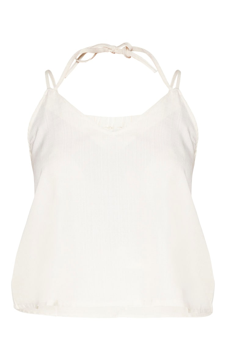 Plus Stone Woven Tie Back Cami Top  3