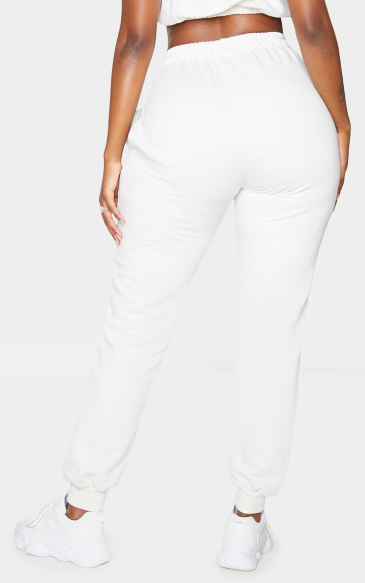 PRETTYLITTLETHING Shape Cream Embroidered Joggers 3