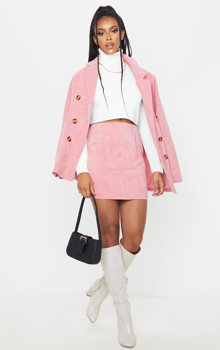 Pink Cord Mini Skirt 5