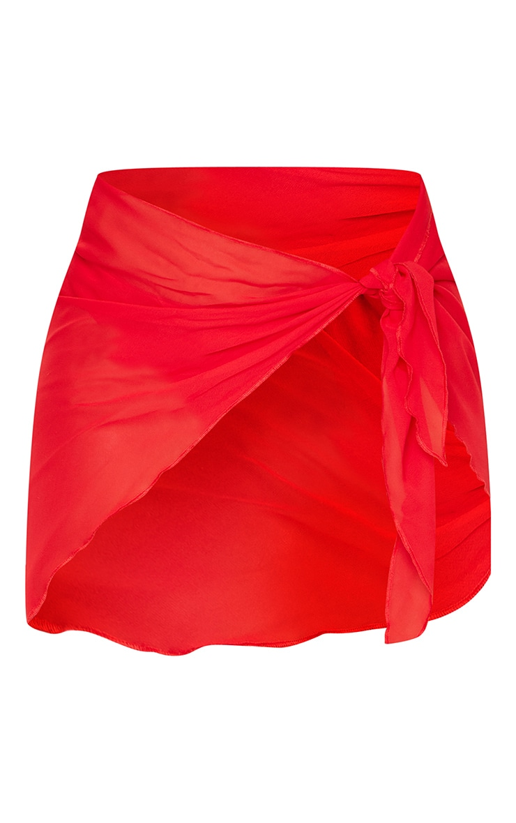 Red Tie Side Sarong 6
