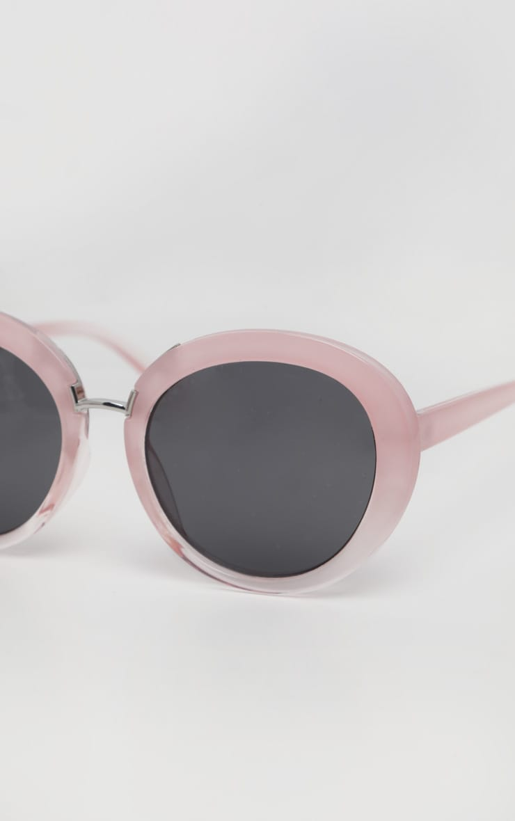 Pink Oversized Oval Sunglasses 4