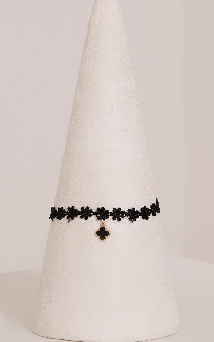 Tabitha Black Floral Choker 3