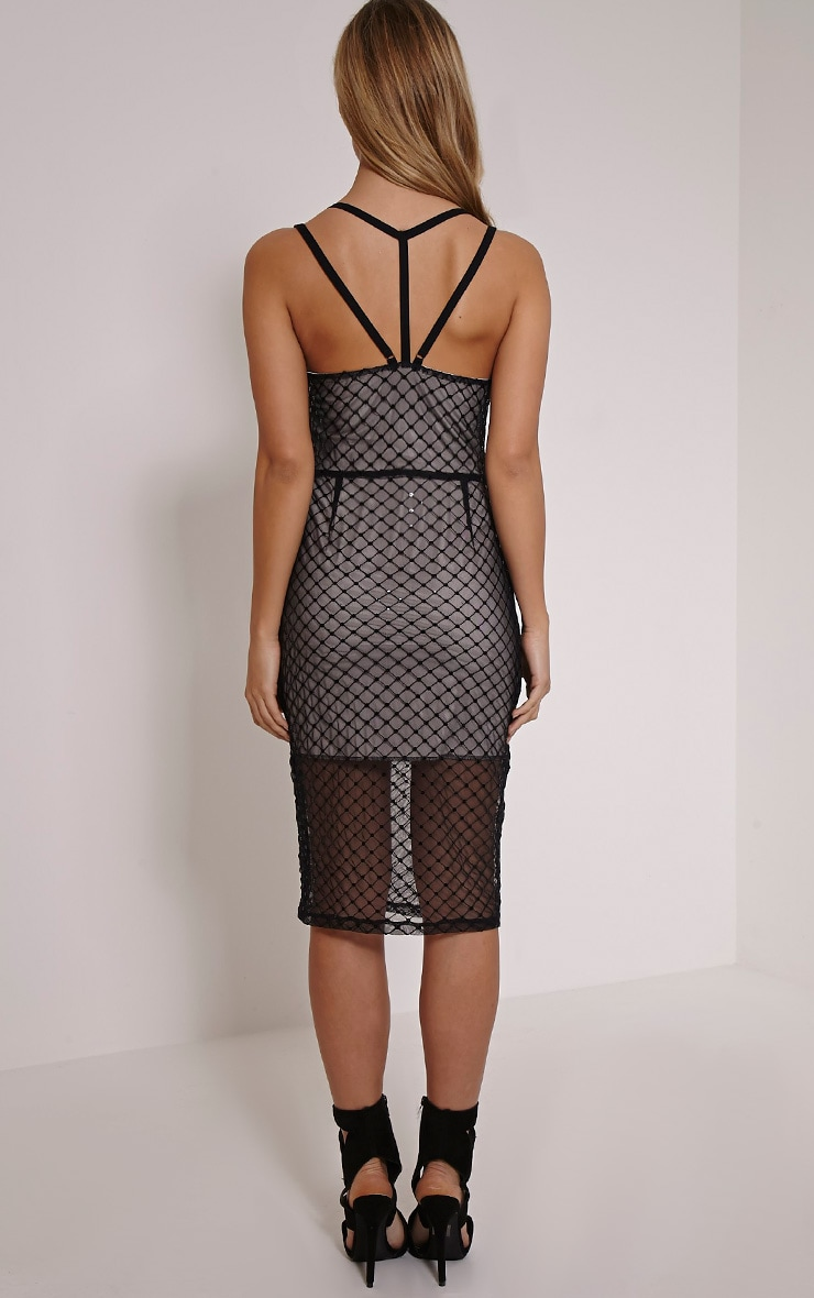 Gabby Nude Lace Lining Bodycon Dress 2
