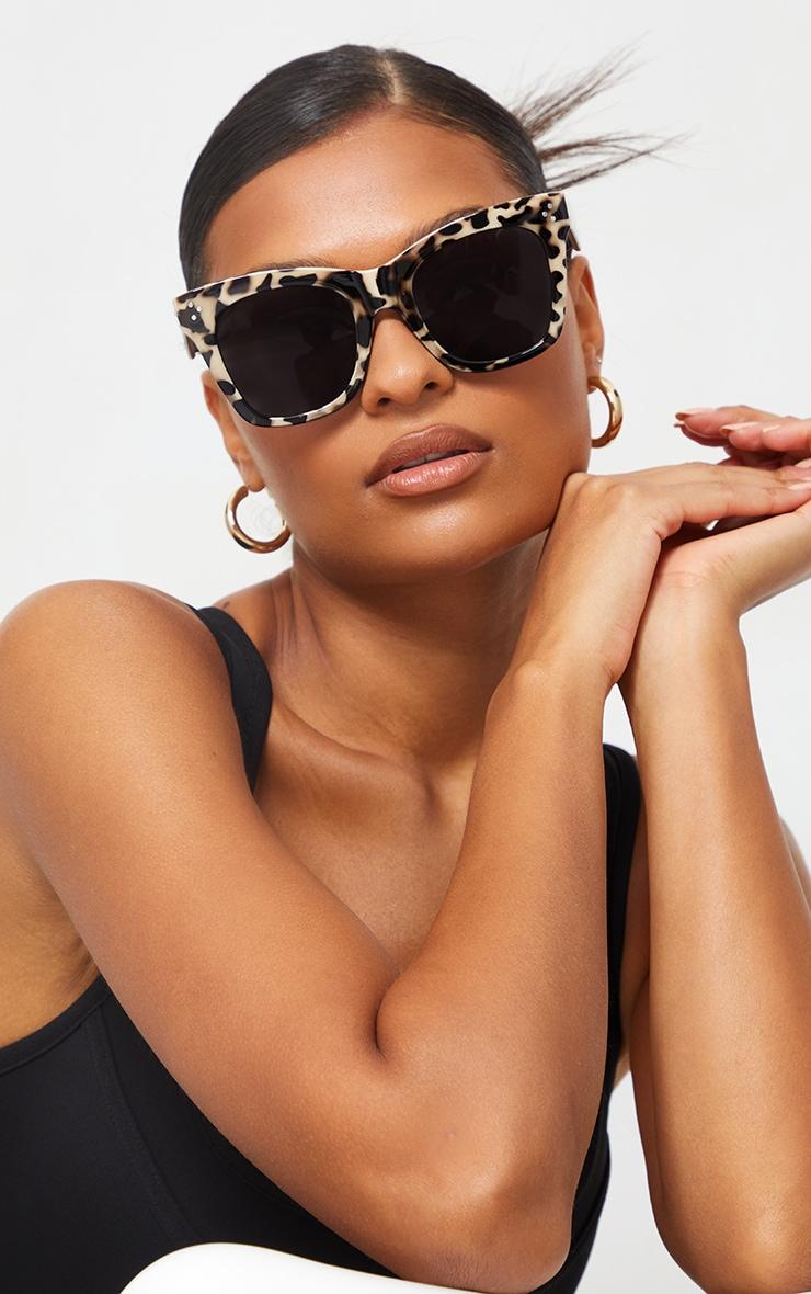 Brown Toirtoise Square Framed Sunglasses 1