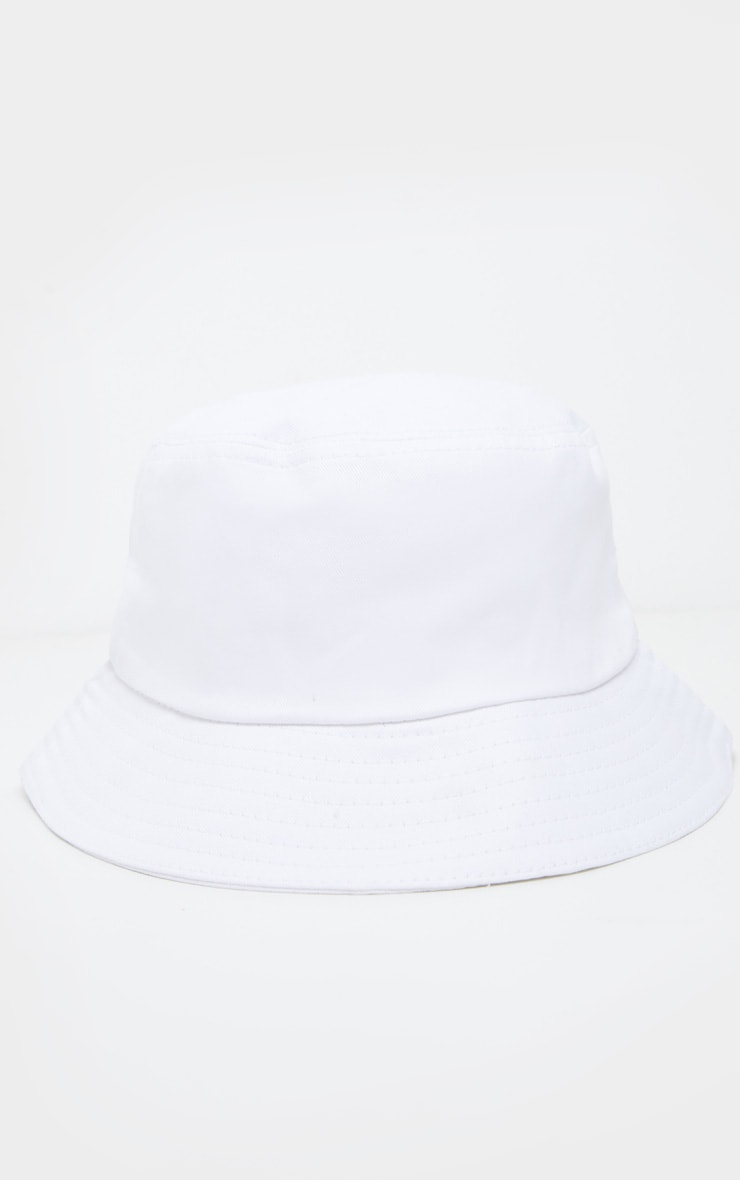 Cream Plain Bucket Hat  2