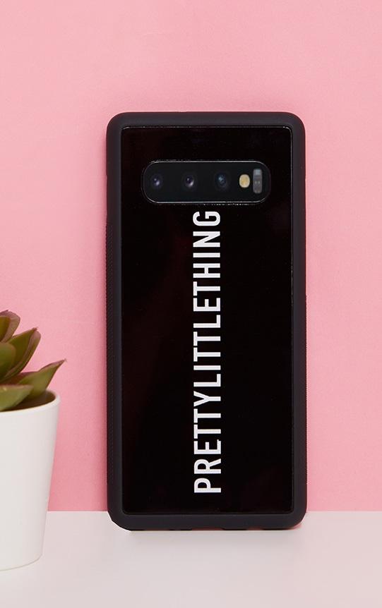 PRETTYLITTLETHING Black Logo Samsung S10 Phone Case 1
