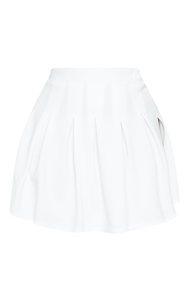 PLT Plus - Jupe de tennis blanche plissée & fendue 6