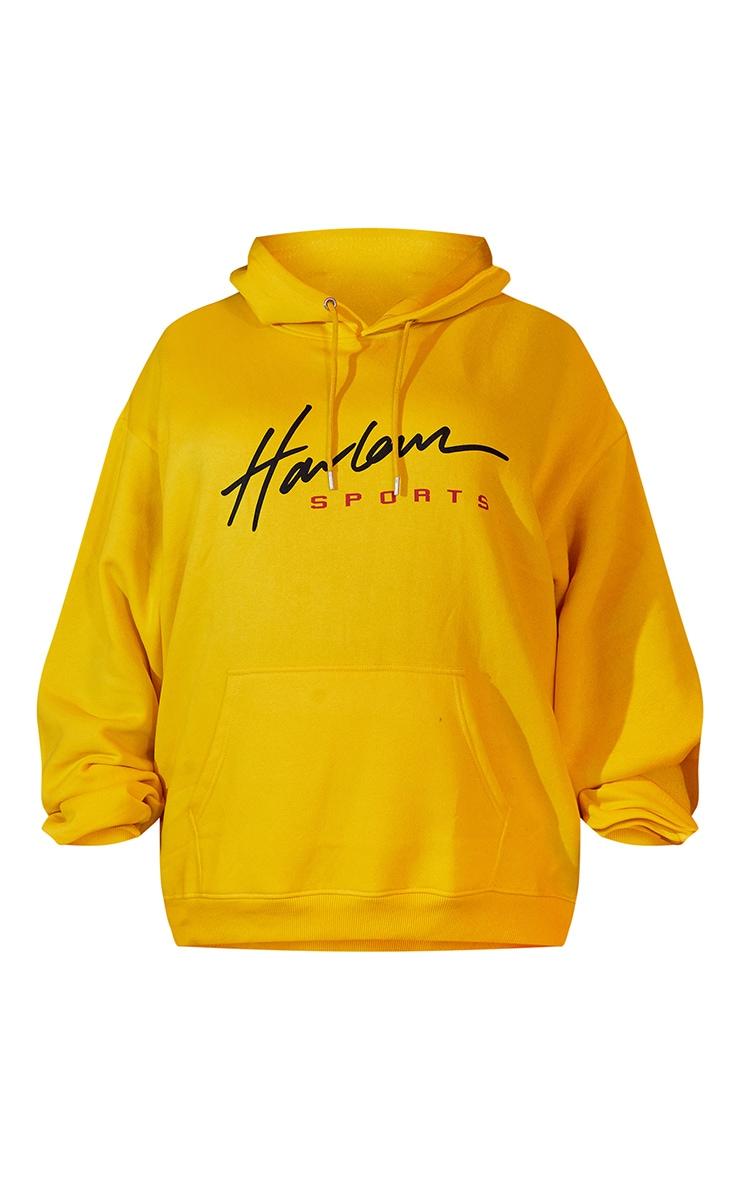 Plus Yellow Unisex Printed Oversized Hoodie 6