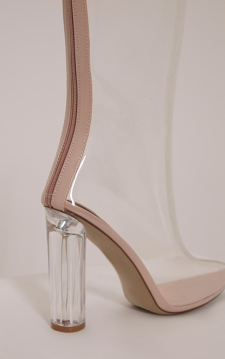 Zizi Clear Heeled Boots 5