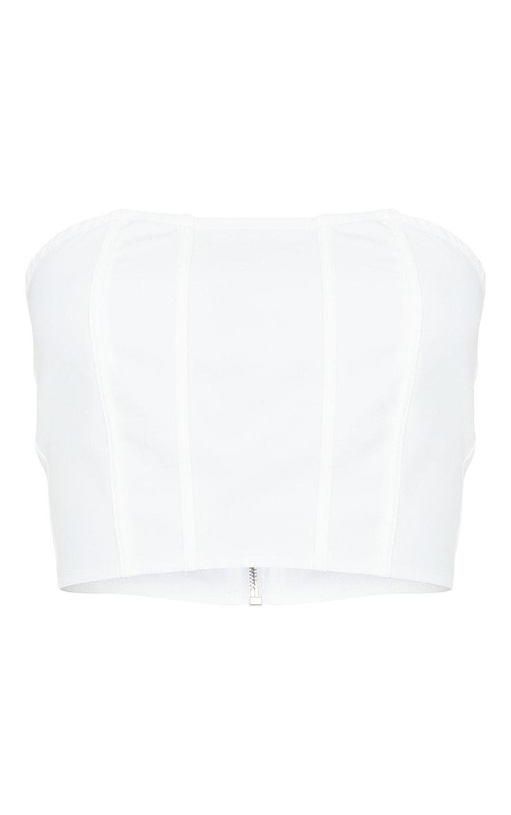 Tall White Corset Detail Bandeau Top 5