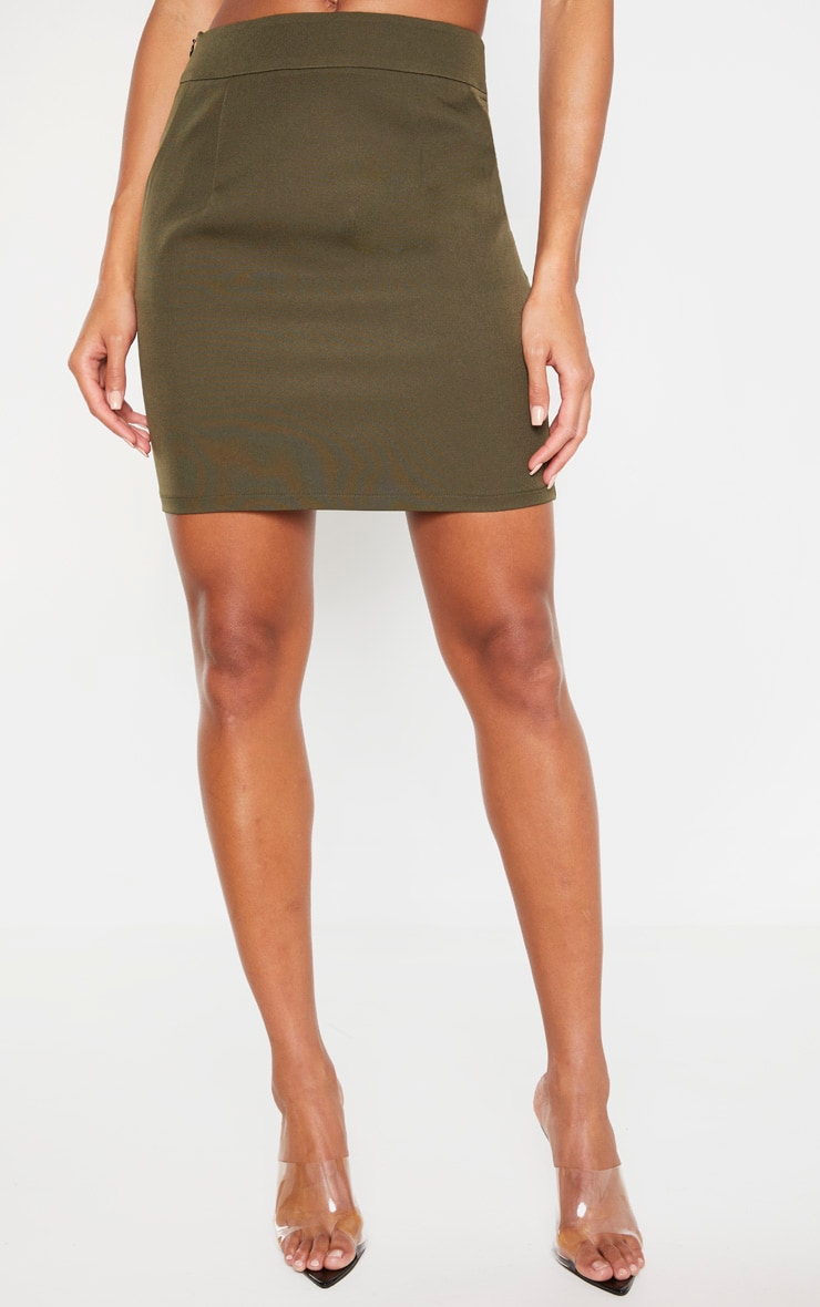 Khaki Woven Pocket Mini Skirt 2
