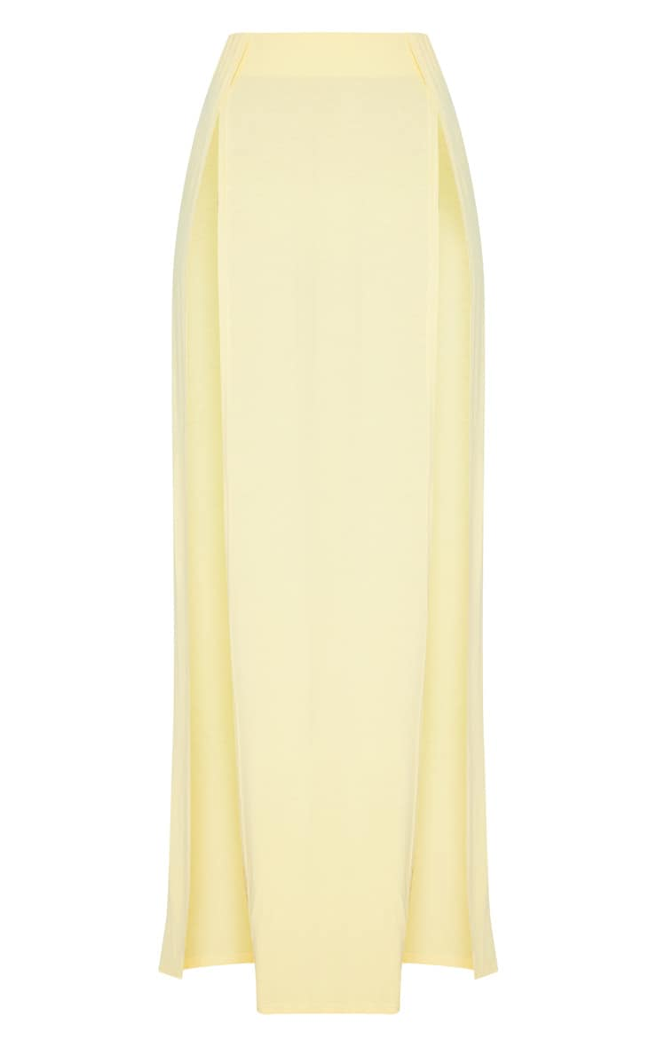 Lemon Double Split Maxi Skirt 3