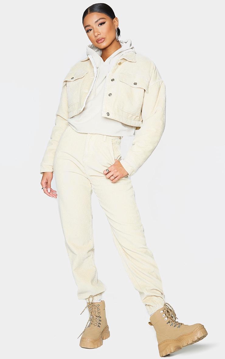 Stone Cord Cuffed Hem Pants 1