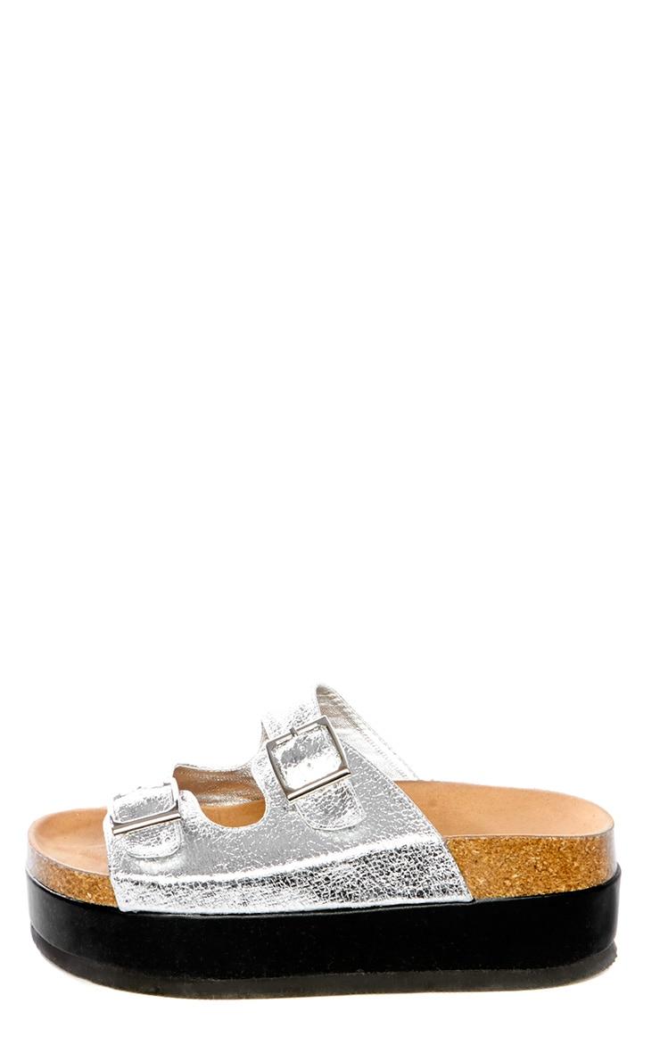 Dana Silver Platform Sandals 1