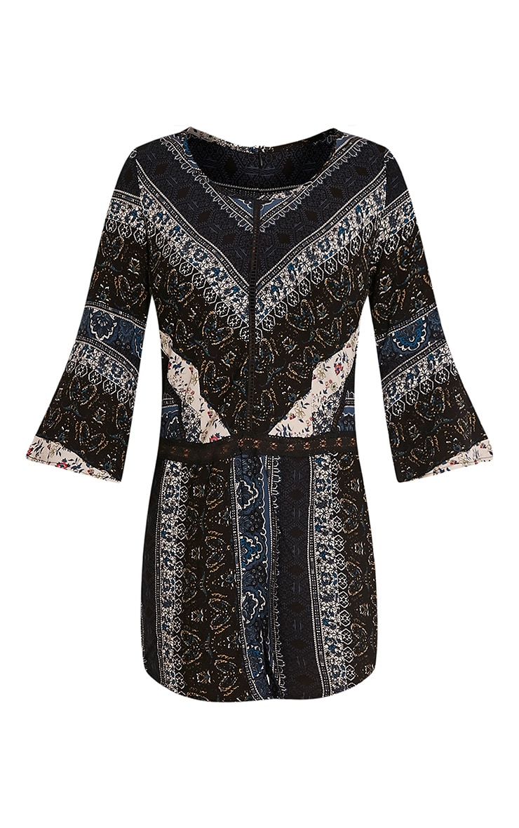Abby Navy Printed Playsuit 3