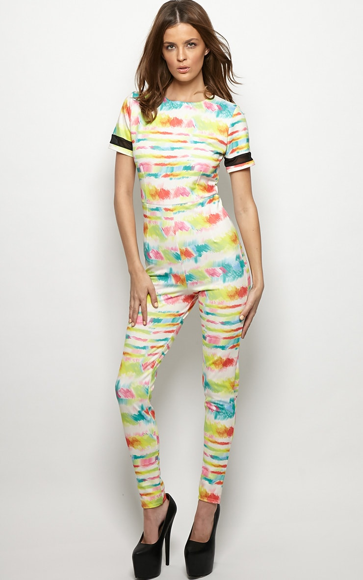 Isobel Graphic Paint Splash Print Jumpsuit  1