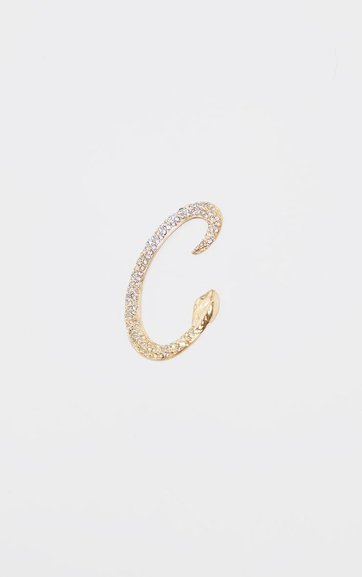 Gold Diamante Snake Ear Cuff 3
