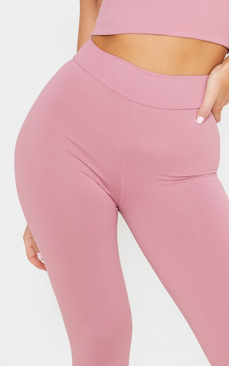 Dusty Pink Luxe High Waist Gym Legging 5