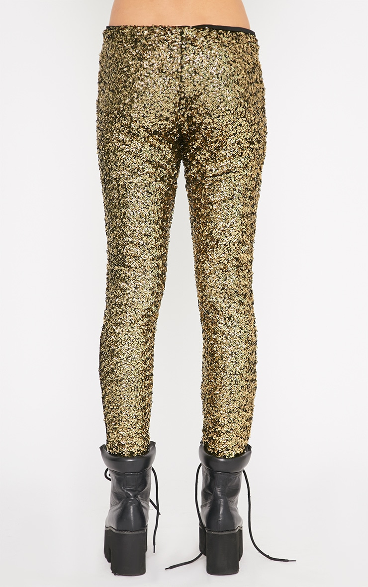 Maggie Gold Sequin Legging 2