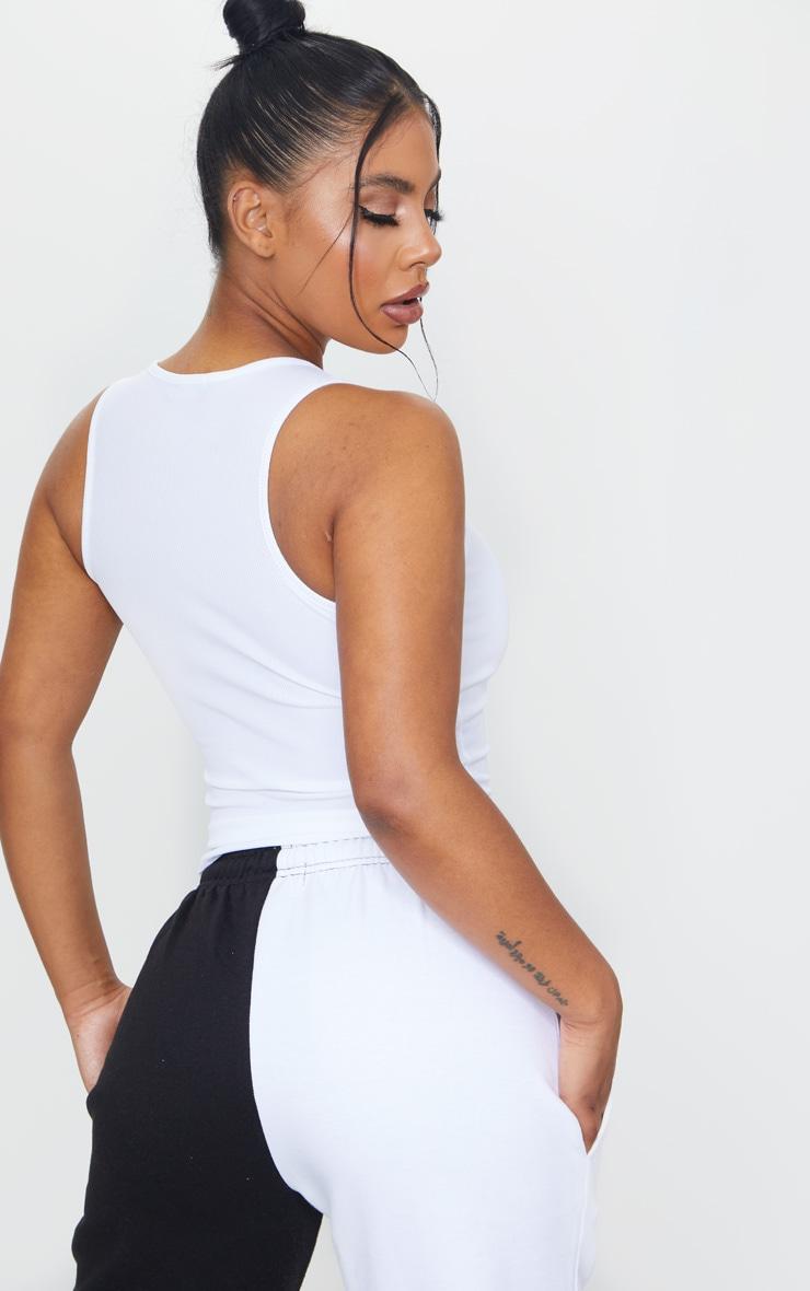 PRETTYLITTLETHING White SS20 Printed Rib Vest 2