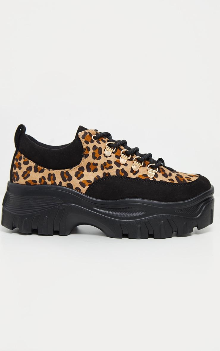 Leopard Flatform Chunky Hiker Trainer 3