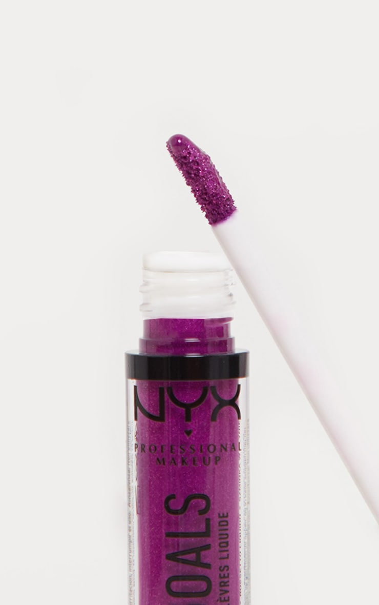 NYX Professional Makeup Glitter Goals Liquid Lipstick X Infinity 3