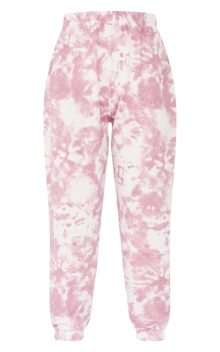 Petite Pink Tie Dye Cuffed Hem Sweatpants 5