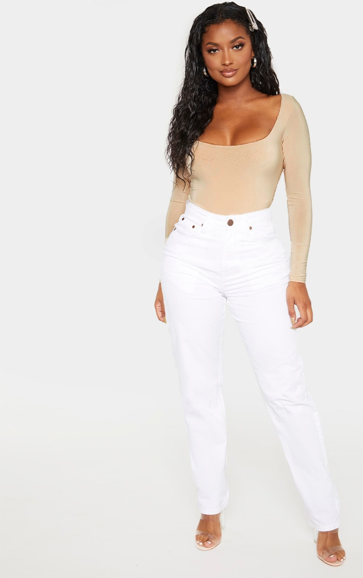 Shape White Mom Jeans 1