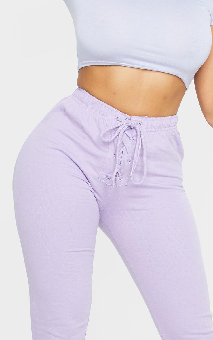 Shape Lilac Lace Up Detail Sweat Joggers 4