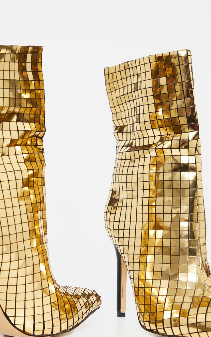 Gold Disco Ball Ankle Boot 4