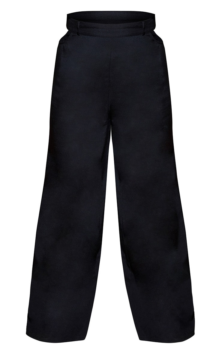 Plus Black Cut Out Detail Wide Leg Pants 4