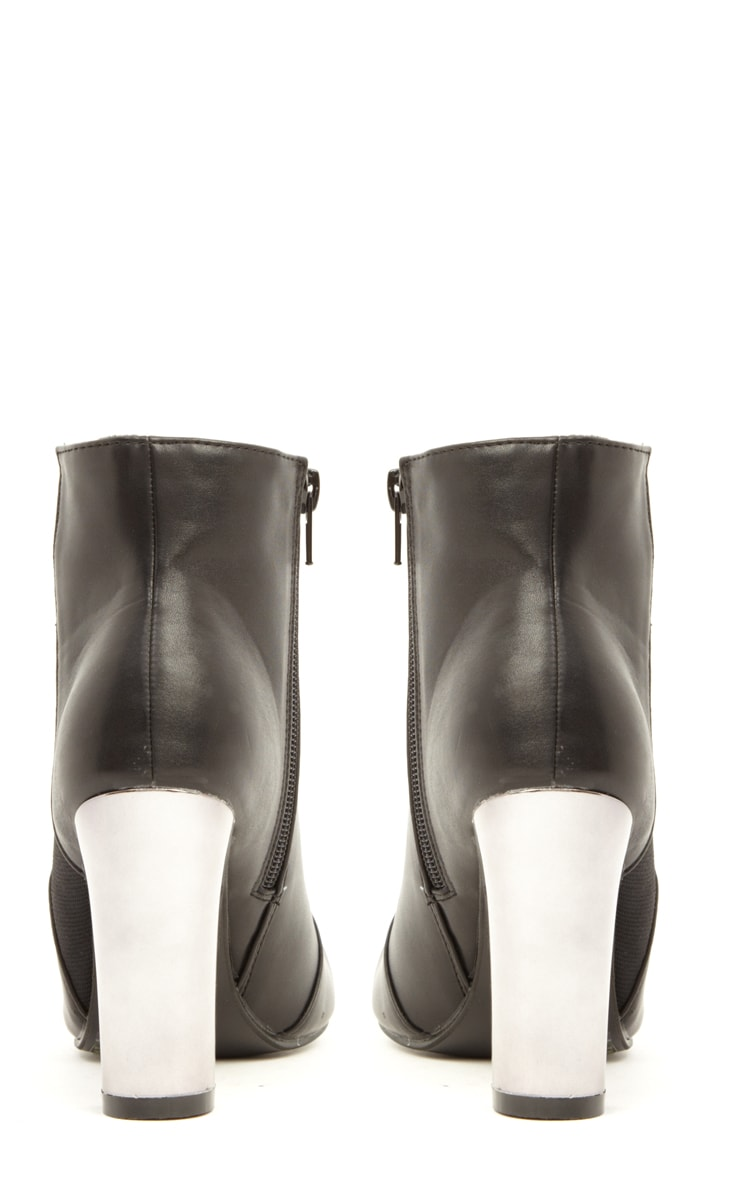 Alexa Black Pu Leather Chelsea Boots 3