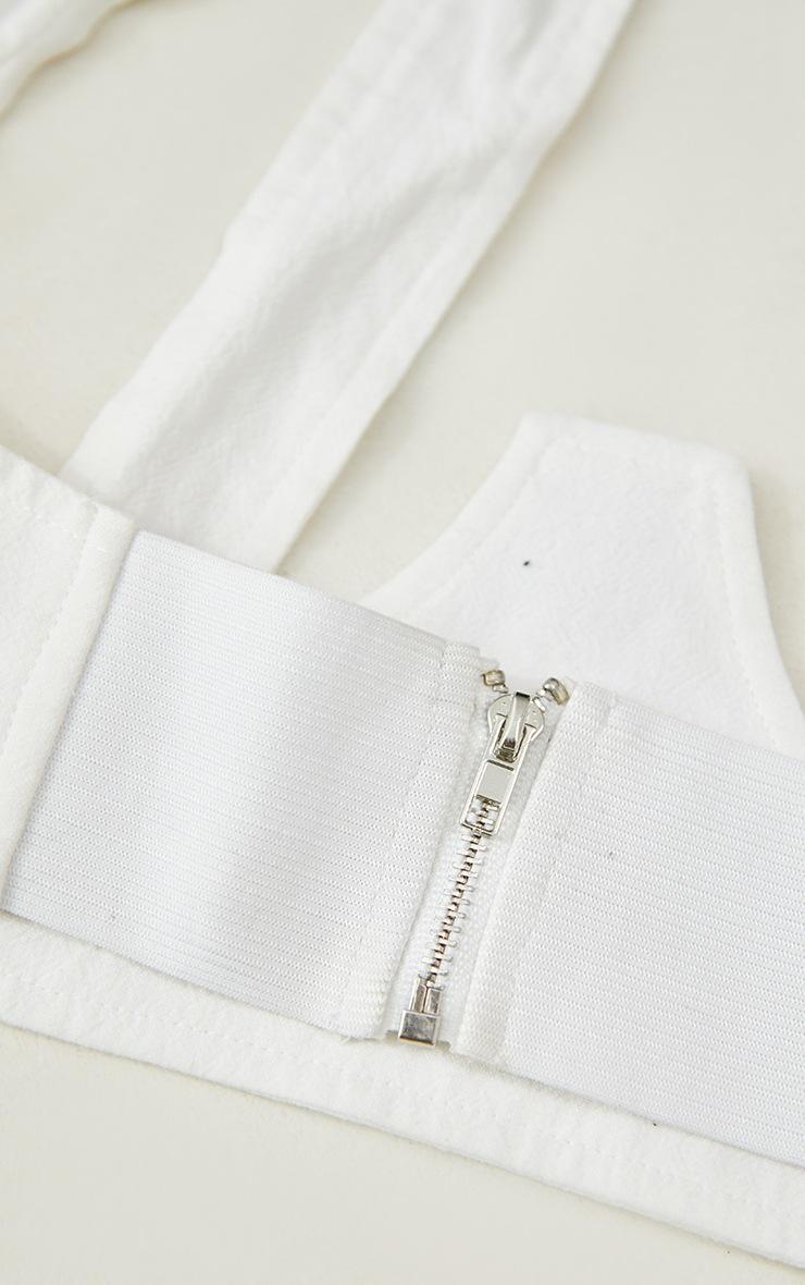 Cream Linen Look Halter Neck Corset Belt 3
