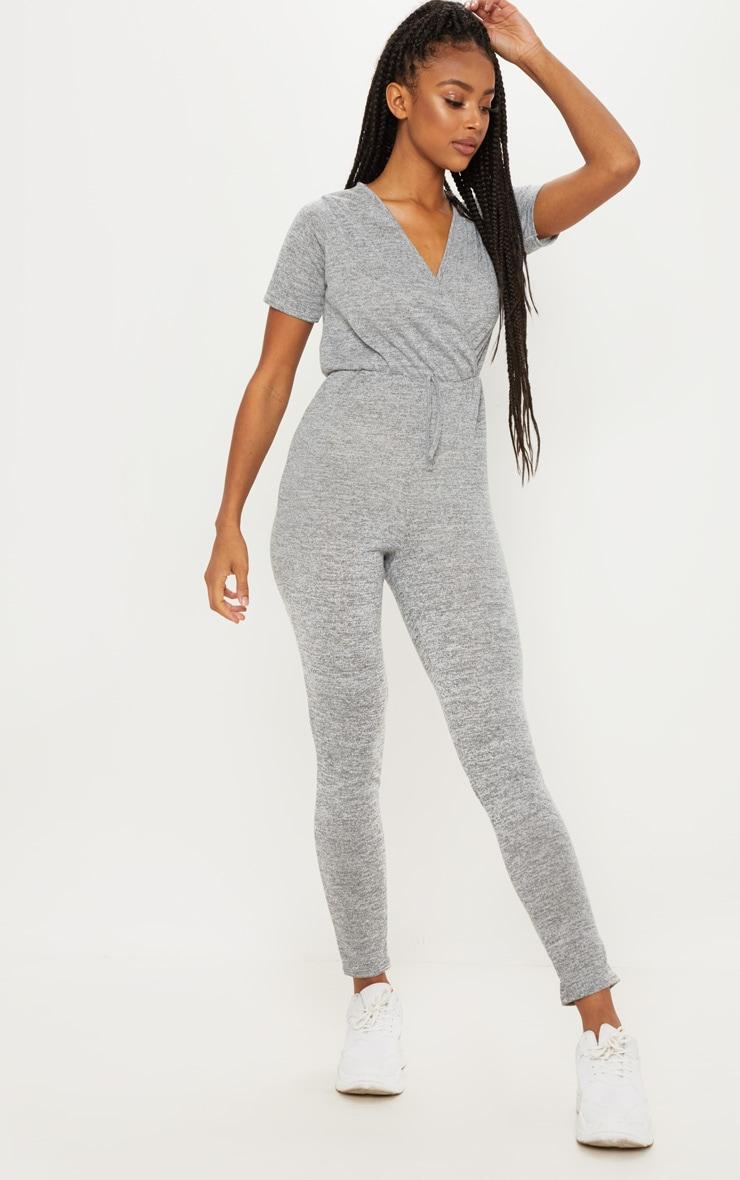 Combinaison gris en tricot 4