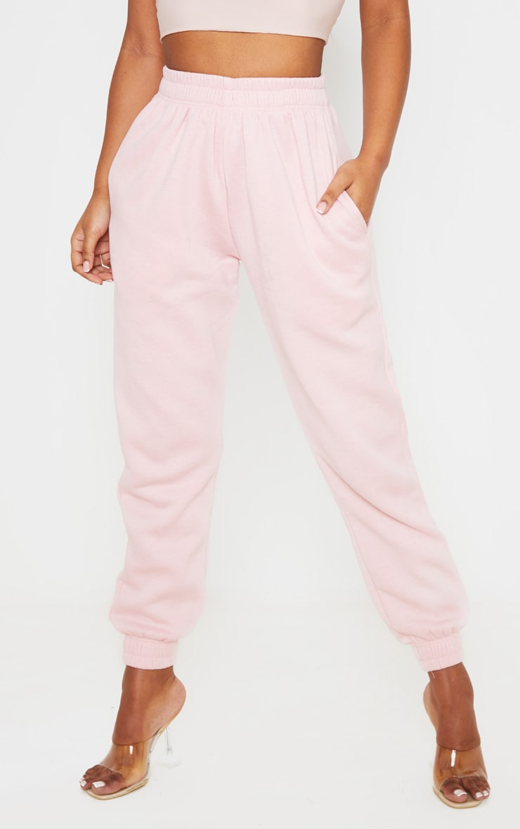 PRETTYLITTLETHING Baby Pink Diamante Slogan Jogger 2