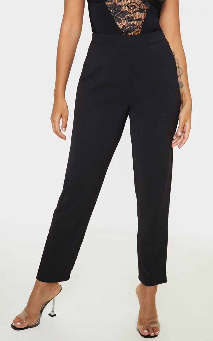 Petite Black Tailored Pants  2
