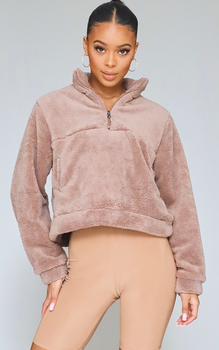 Nude Borg Zip Pocket Front Sweater 1