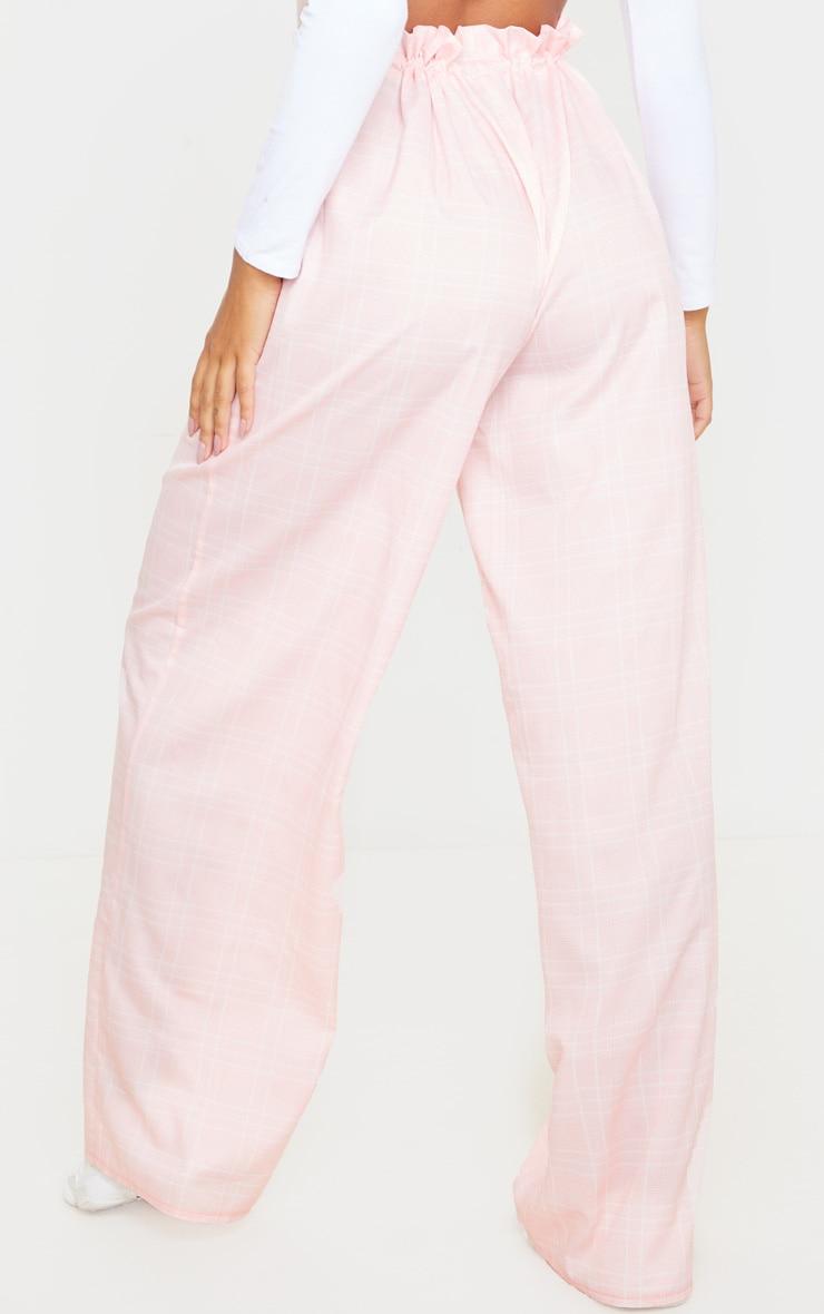 Dusty Pink Drawstring Waist Wide Leg Pants 3