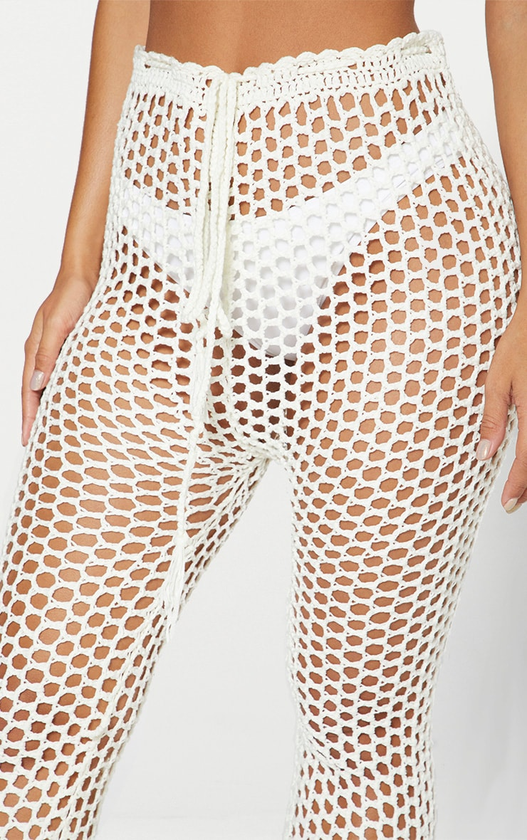 White Crochet Trousers 5