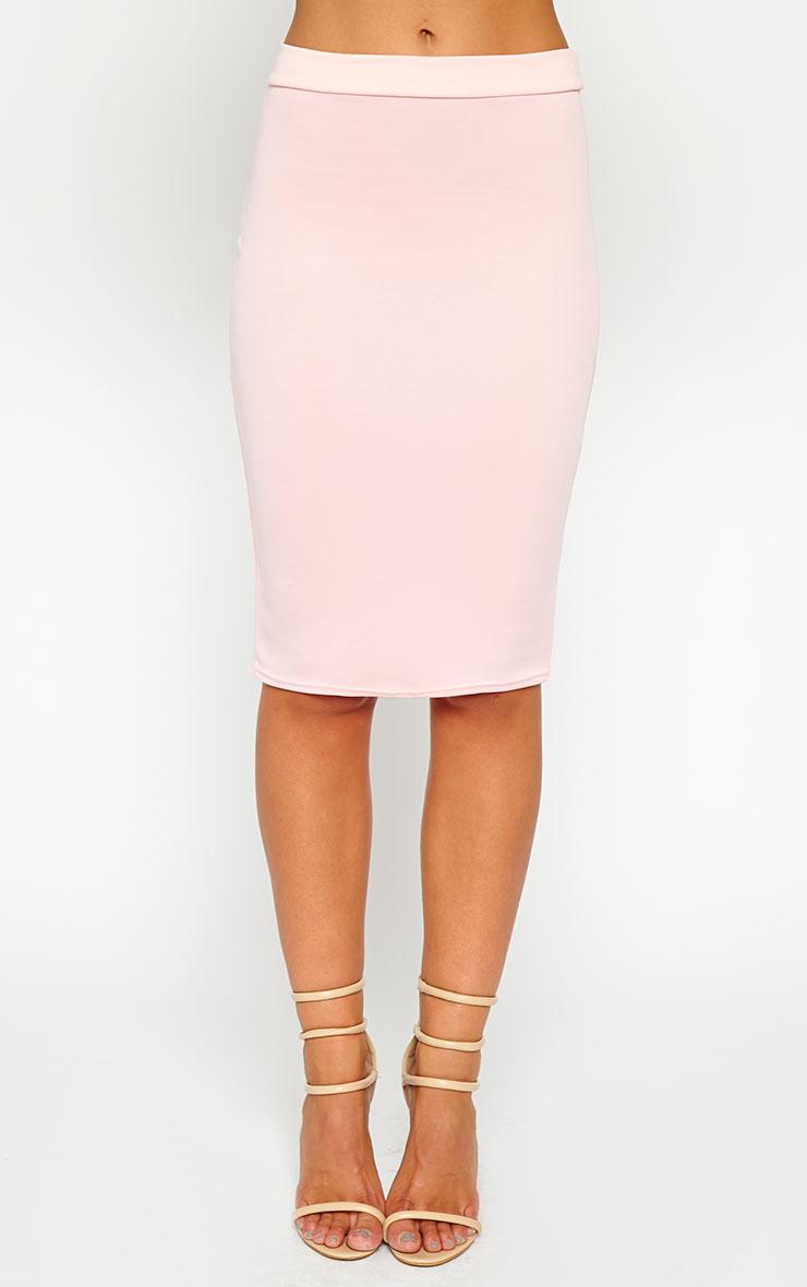 Janine Pink Midi Skirt 2