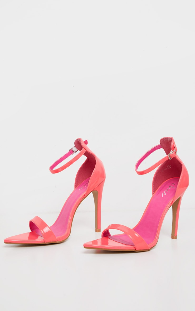 Pink Neon Point Toe Strappy Sandal  3