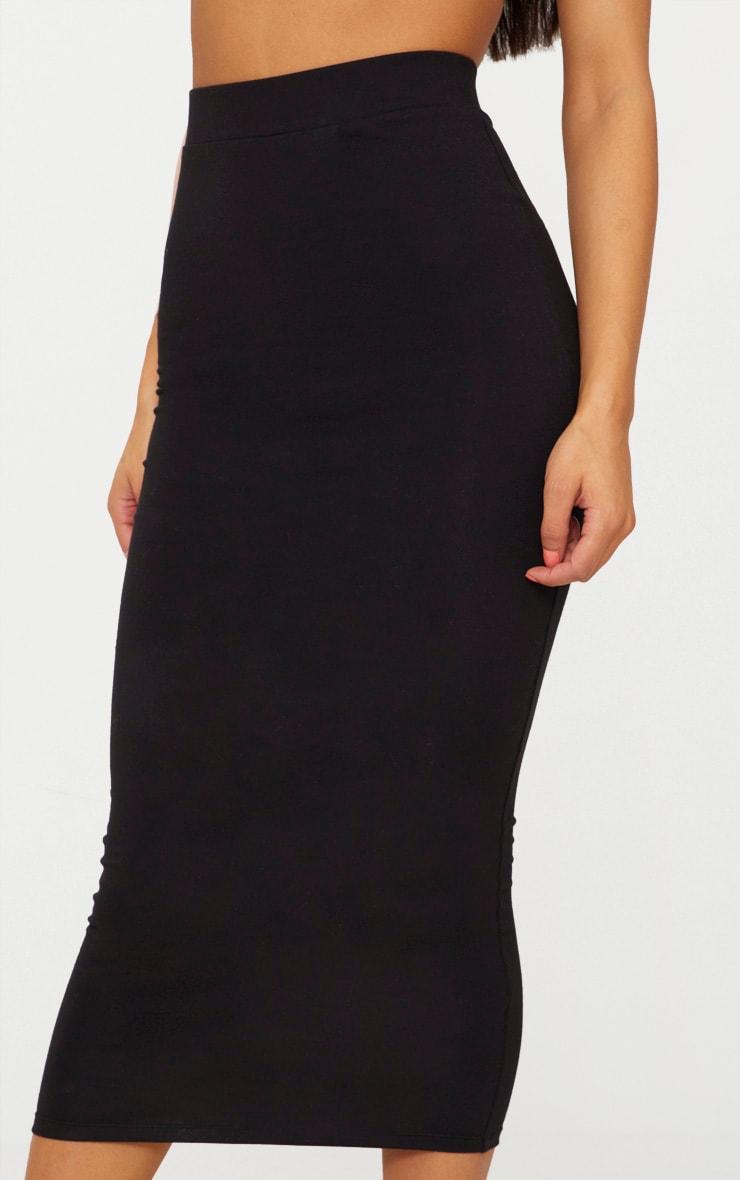 Black Second Skin Bodycon Midaxi Skirt 5