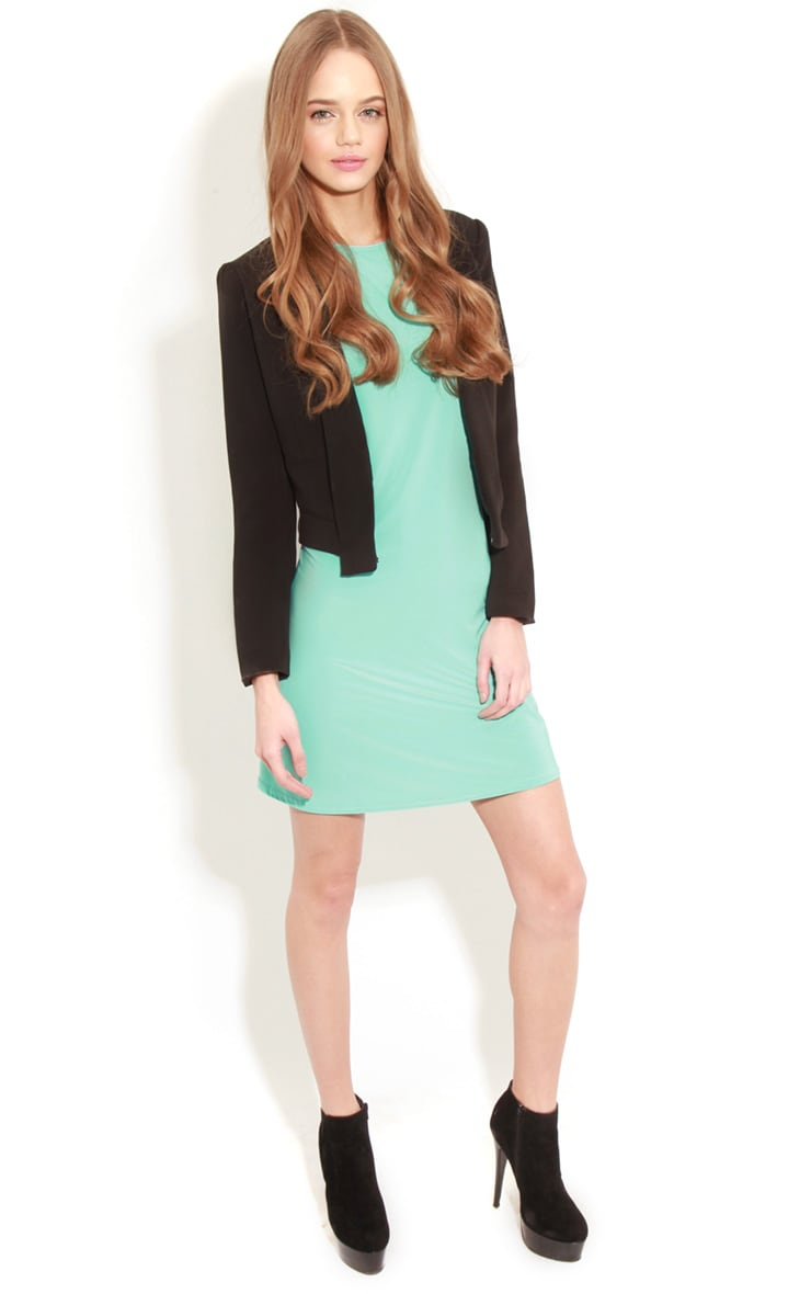 Ellen Turquoise Long Sleeved Swing Dress  3