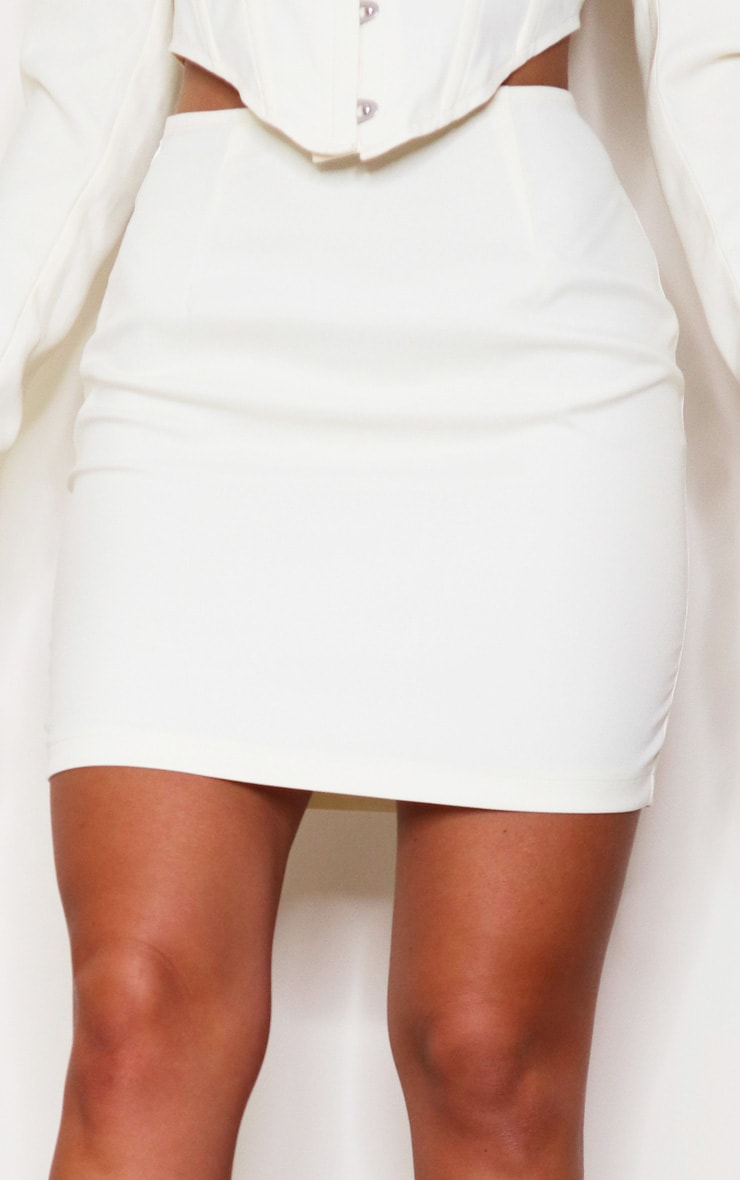 Cream Woven Mini Skirt 5