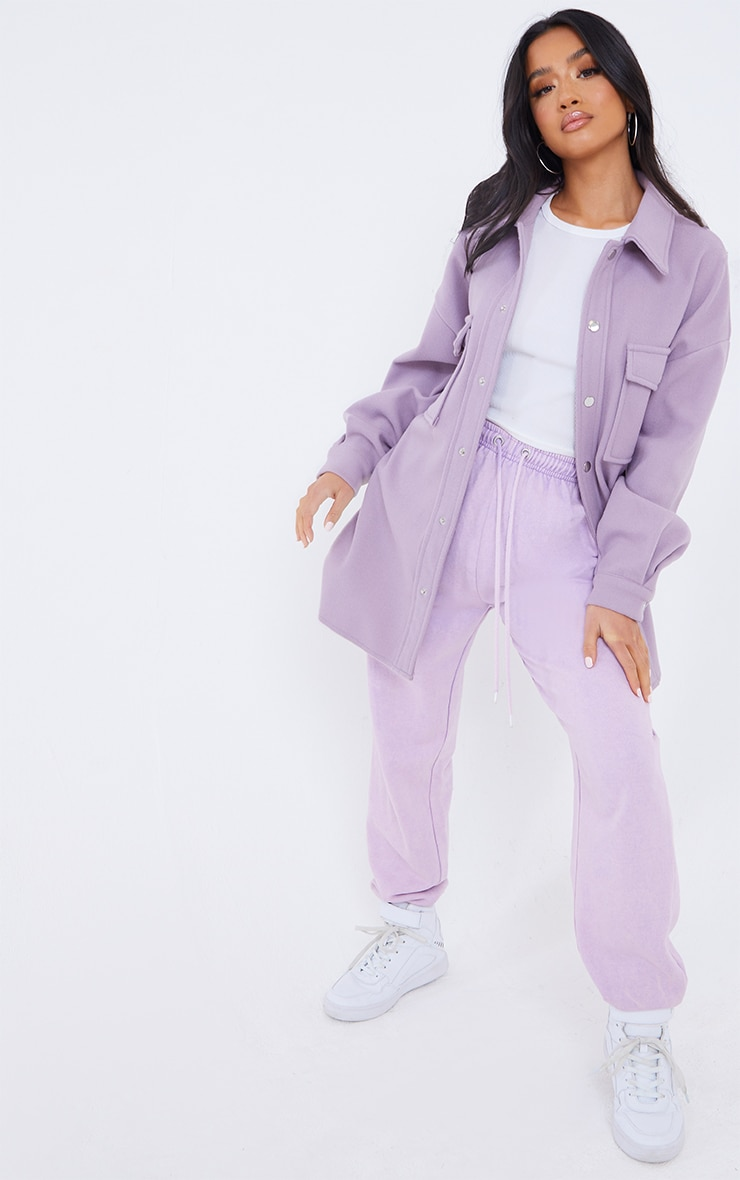 Petite Lilac Oversized Shacket  3